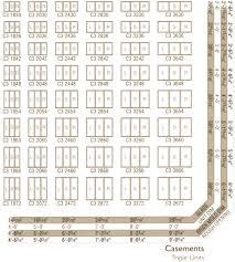 Andersen Fixed Window Size Chart Andersen Casement Window Size Chart 5 Best Images Of