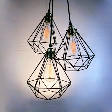 fully dimmable bulbs diamond cage cer pendant