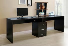 furniture modern computer desk with storage elegant black wooden
