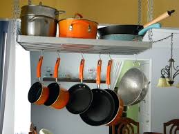 medium size of ceiling pot hanger pan rack hanging pots and pans diy from metal wall pots and pans rack