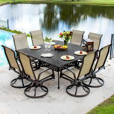 madison bay 9 piece sling patio dining set with swivel rockers and piece patio set60