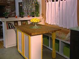 Build A Movable Butcher Block Kitchen Tableisland Hgtv