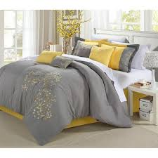 yellow and grey queen comforter sets best 25 set ideas on gray 7