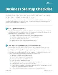 New Business Startup Checklist Start Up Checklist