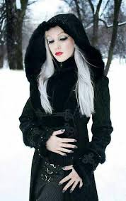 from characters of novels who wear vire type clothing and black gowns the adams family is a typical goth style it has victorian themes spiked dog