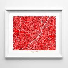 Amazon Com Munich Germany Street Road Map Poster Home Decor