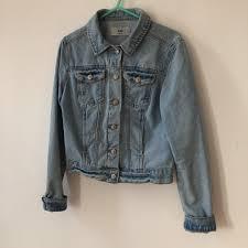 Light Blue Fitted Denim Jacket Denim Jacket Light Blue Fitted Denim Jacket Jean Depop