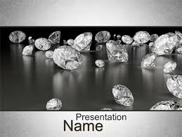 Sprinkle Of Diamonds Powerpoint Template Backgrounds 10636