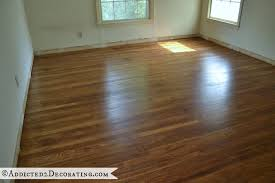 how long before you can put furniture on refinished hardwood floors