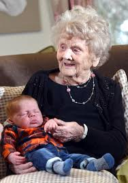 Hilda Hanson, whose family had six generations alive at the same time, has  died aged 104 | Bradford Telegraph and Argus