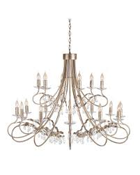 elstead lighting christina 18 light chandelier in silvergold finish with crystal drops gold and silver chandelier s46