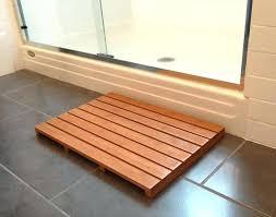 wooden shower mat wood nz diy ireland