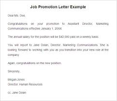 29 promotion letter templates free samples examples format simple letter of intent for job new position sample for free