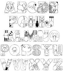 Small Picture Abc Animal Coloring Pages Coloring Page for Kids