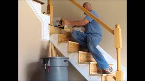 Removing Stair Carpet Stair And Rail Renovation Spring 2012 Youtube