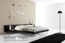 simple master bedroom interior design. Simple Master Bedroom Designs With Creative Wall Paintings And Stand-alone Lampshades Interior Design
