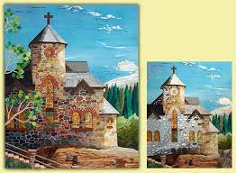 114 best Art Quilts - buildings images on Pinterest | Quilt art ... & Saint Catherine Chapel at Camp Saint Malo, Allenspark, CO. This quilt won  the Best Pictorial Quilt Award by Adamdwight.com