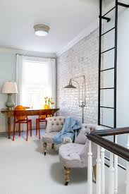 White Exposed Brick Wall Trendy Textural Beauty 25 Home Offices With Brick Walls