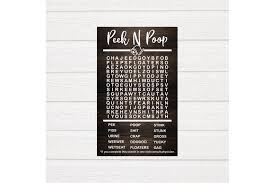 I used to love doing them in school, and i love bringing big activity books full of them on long trips. Peek N Poop Bathroom Word Search Svg Word Search Svg By Kayrativedigital Thehungryjpeg Com