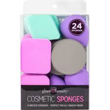 glam and beauty 24count cosmetic sponges best brands makeup sponges