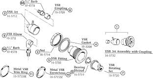 hot tub spa replacement jet parts hydro air vsr assembly