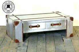 busse trunk coffee table with lift top decoration silver steamer drawers lovely steel storage trunks metal