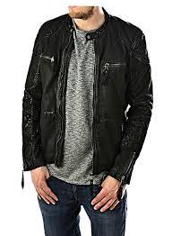 gear biker style zip cuff detail leather dark brown