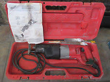 milwaukee super sawzall. milwaukee 6537-22 super sawzall / reciprocating saw w/ case, manual and blades