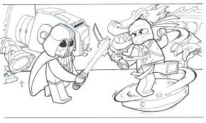 Small Picture Lego Ninjago Coloring Book Coloring Coloring Pages