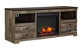 Trinell LG TV Stand With Fireplace