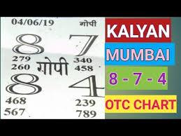 Kalyan Daily Chart Videos Matching Gopi Chart 11 06 2019 Kalyan Mumbai Open
