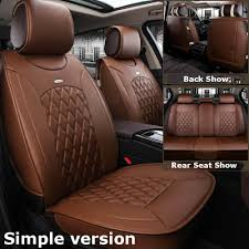 details about simple car microfiber leather seat covers for nissan altima sentra rogue coffee