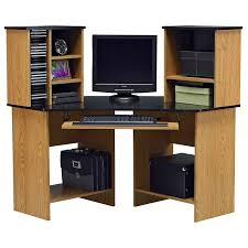 interesting home office desks design black wood. Interesting Home Office Desks Design With Black Wood Computer Desk Entrancing Corner Brown Wooden Countertop Along Shelf And Open Cabinet F