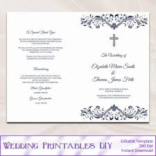 wedding reception program templates free download catholic wedding program template diy navy blue cross ceremony
