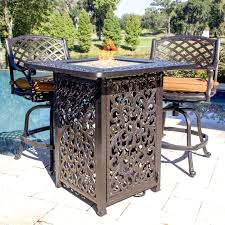 heritage 3 piece cast aluminum patio counter height fire pit bar with table and jpg i10c img resize maxdim value 500 on tables 1495x1495px