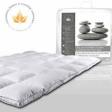 twin mattress pad. Canadian Down \u0026 Feather Company Gel Microfibre Alternative Poly Bed Twin Mattress Pad