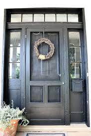 outside screen doors repaint front door black add old wood screen door painted to match outside screen doors