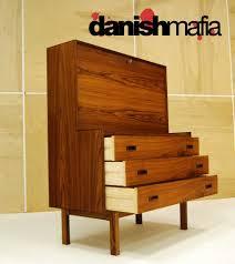 mid century danish modern rosewood secretary 2
