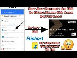 how to use bajaj emi card on flipkart