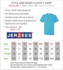 Jerzees T Shirt Size Chart View Sizing Charts Jcmannyco