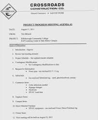 Agenda Meeting Example