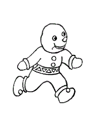 The Gingerbread Man Coloring Pages