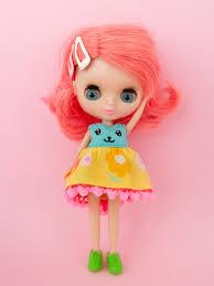 Blythe Doll Size Chart Funny Bunny Dress For Petite Blythe Robins Egg Blue