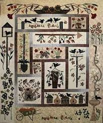 Cute applique from Kathy Schmitz | Quilt blocks I like | Pinterest ... & Primitive Quilt Kits | The Cotton Club Quilt Blog: Serenity Garden Quilt  Collaboration Adamdwight.com