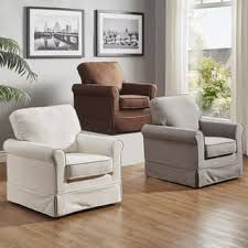 cream furniture living room. Perfect Furniture Fallon Rolled Arm Cotton Fabric Swivel Rocking Chair By INSPIRE Q Classic In Cream Furniture Living Room I