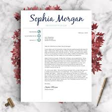 Creative Resume Template The Sophia Landed Design Solutions
