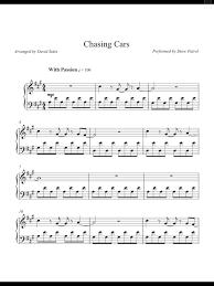Download and buy printable sheet music online at jw pepper. Piano Sheet Music Chasing Cars Snow Patrol Piano Sheet