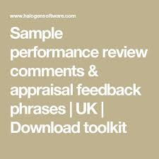 performance review comments sample performance review comments appraisal feedback phrases uk