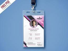 Company Photo Identity Card Template Employee Id Free