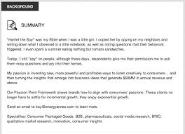 resume specialties examples great examples of linkedin profile summaries resume